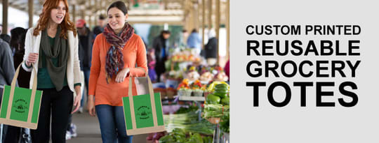 Custom Printed Resuable Grocery Totes Image