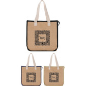 3de9c679657 Jute Insulated Grocery Tote