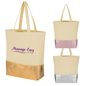 91f304c3298 Metallic Accent 12 Oz. Cotton Tote Bag