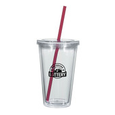 5c738bbab2e - 16 Oz. Double Wall Acrylic Tumbler With Straw | Bagmasters