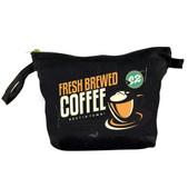 b6347e75d1f7 Black Cosmetic Bag w/Brass Zipper