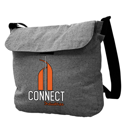 1001-95 Messenger Grey Cotton Tote
